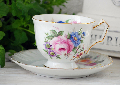 tea cup from a tea party